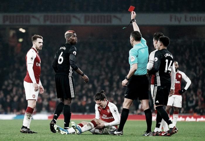 Expulso contra Arsenal, Pogba desfalca United em dérbi com Manchester City