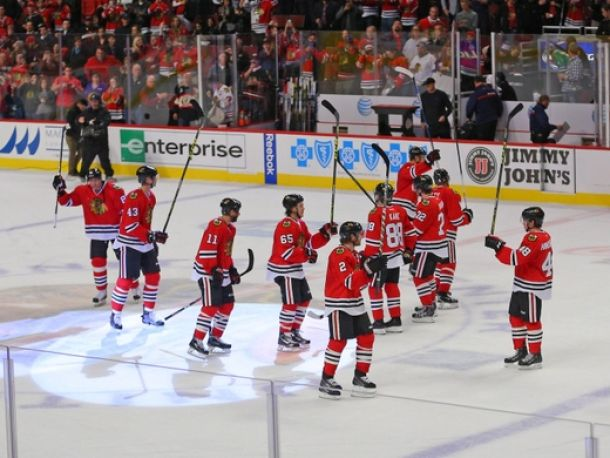 Two Goals In 65 seconds Leads Chicago Blackhawks To 4-1 Win Over Columbus Blue Jackets