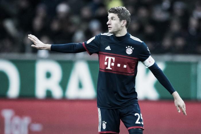"Thomas Müller mostra contentamento no sorteio do Bayern: ""Estamos felizes"""