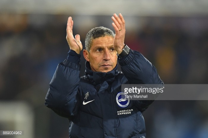 Chris Hughton hoping Wembley visit can overturn Brighton's woes