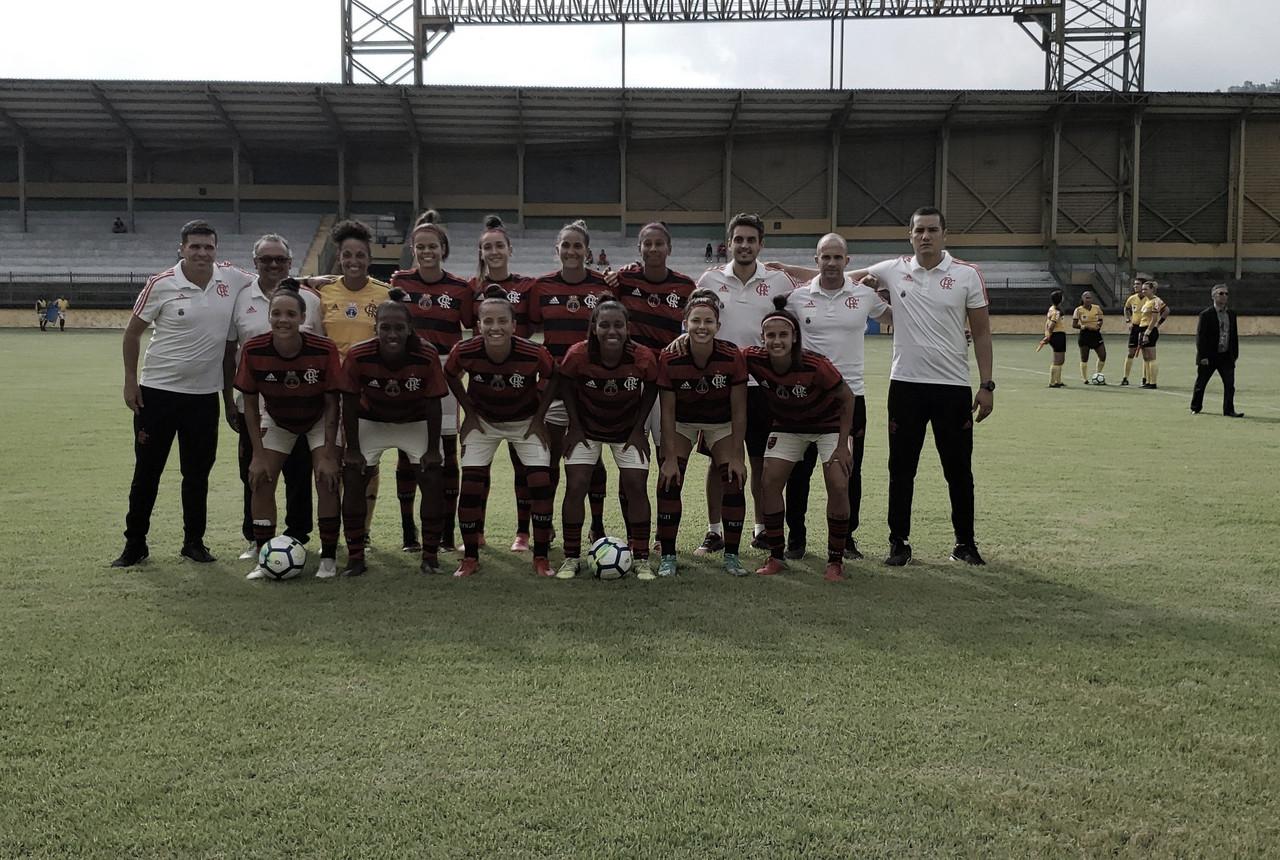 Flamengo massacra Vitória-PE e assume liderança do Campeonato Brasileiro de Futebol Feminino