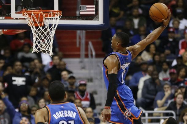 Russell Westbrook's Triple-Double Leads Oklahoma City Thunder Over Washington Wizards, 125-101