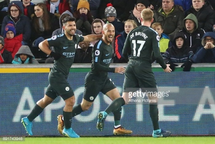 Swansea City 0-4 Manchester City: Citizens ease past Swans in record-breaking 15th consecutive league win