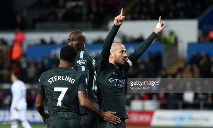 "David Silva hails Manchester City ""special"" Premier League record in Swansea victory"