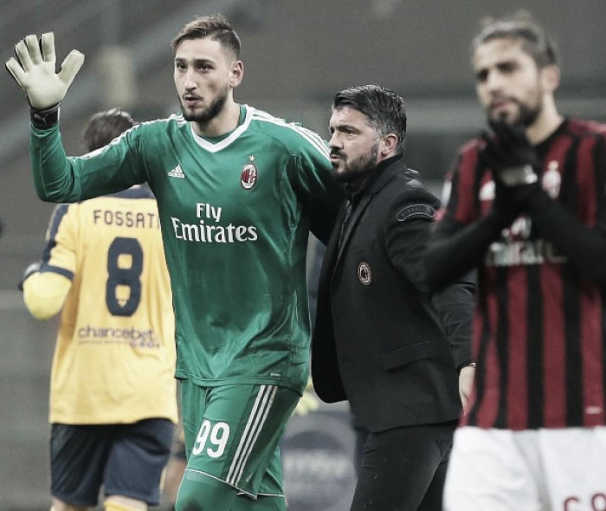 Donnarumma completará 100 jogos na Serie A diante do Napoli e é exaltado por Gattuso