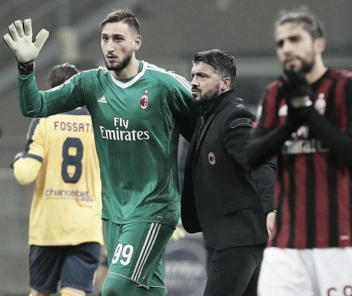 Torcedores do Milan 'perdem paciência' com Donnarumma, mas Gattuso defende goleiro