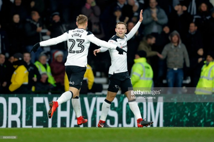 Derby County 2-0 Aston Villa: Weimann nets against his former club as Rams secure valuable three points