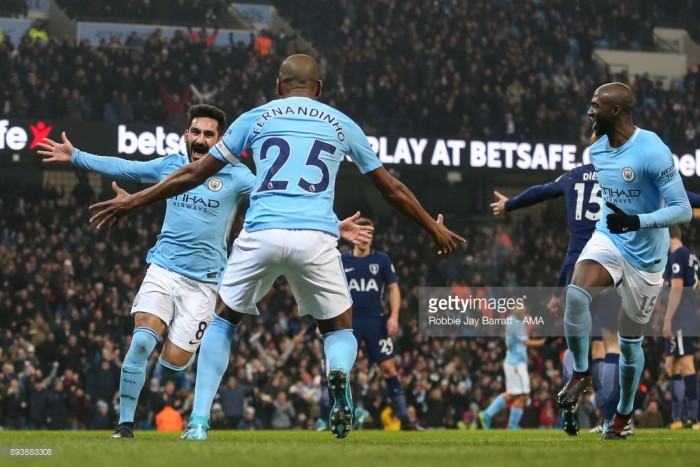 "İlkay Gündoğan states he is ""happy"" to beat a team like Tottenham as City's league run continues"