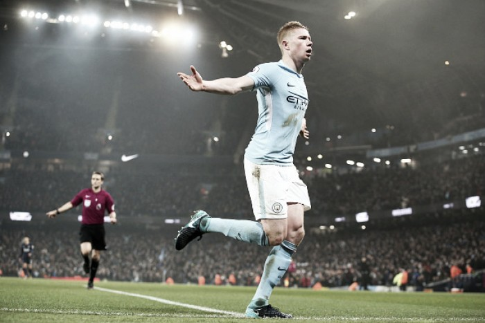 De Bruyne desequilibra, Gabriel Jesus perde pênalti, e City despacha Tottenham