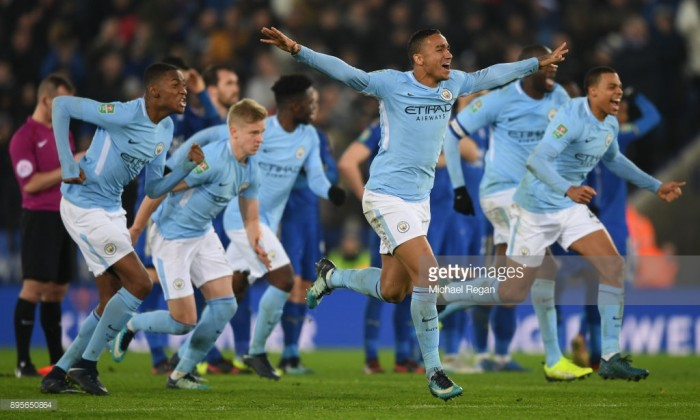 Leicester City 1-1 Manchester City (3-4 on penalties): Penalty win keeps City on course for quadruple