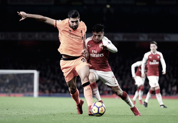Arsenal se recupera, cresce no segundo tempo e empata com Liverpool em jogo de seis gols