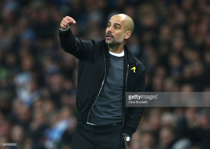 "Pep Guardiola ""so happy"" after his side dismantled AFC Bournemouth 4-0 to extend their lead at the top of the Premier League"