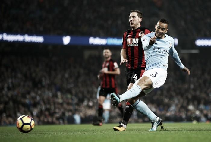 Danilo marca, City goleia Bournemouth e termina ano invicto no Etihad Stadium