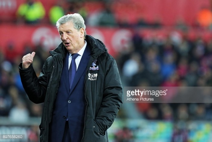 "Roy Hodgson ""satisfied"" with four points from away trips to Swansea and Leicester"