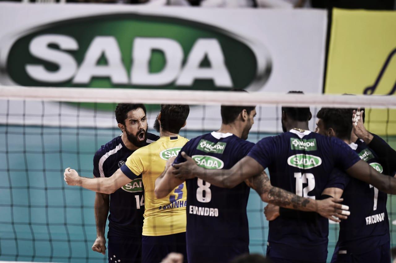 Sada Cruzeiro sofre apagão, mas vence FIAT/Minas pela Superliga Masculina