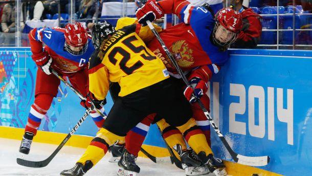 Rússia estreia bem no hóquei feminino e vence Alemanha de virada