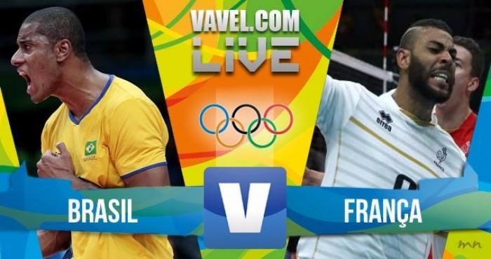 Resultado Brasil x França no vôlei masculino dos Jogos Olímpicos (3-1)