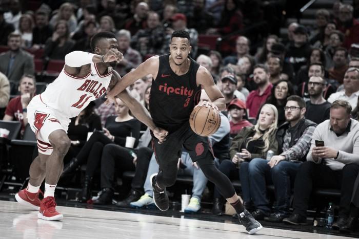 Em noite espetacular, CJ McCollum faz 50 pontos e Blazers atropelam Bulls