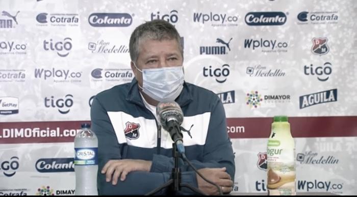 """Hernán Darío Gómez: """"Mejoramos mucho, fuimos rápidos por las bandas, no perdimos el equilibrio"""""""