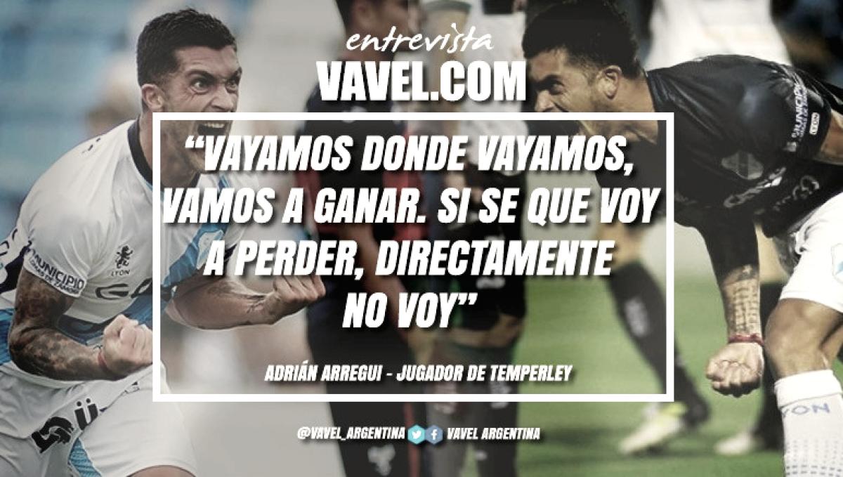 """Entrevista. Adrián Arregui, la historia en el mediocampo: """"Estamos firmes y con la ilusión de ir a ganar a Santa Fe"""""""
