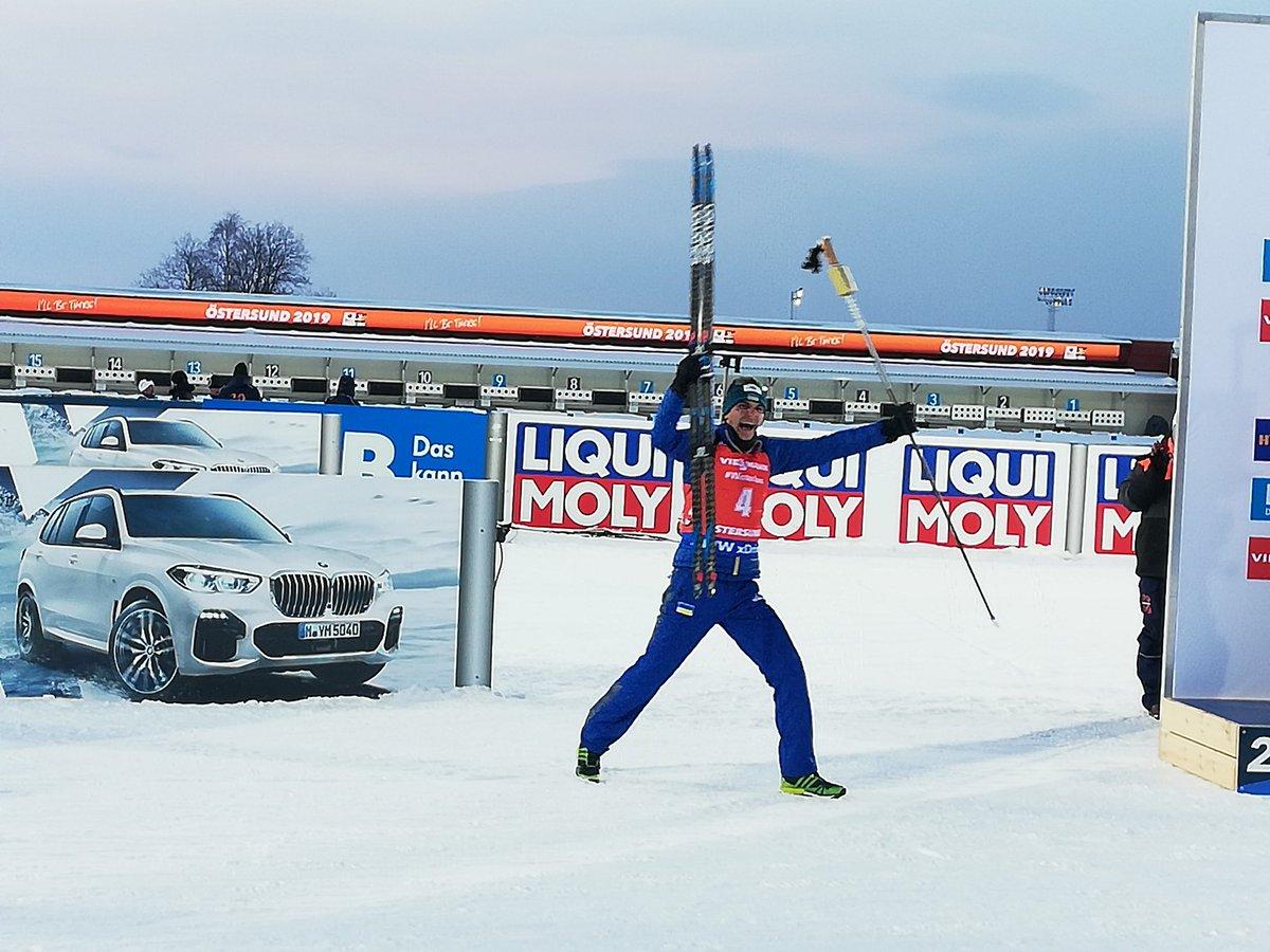 Pydruchnyi, champion du monde de la poursuite. (Twitter: @IBU_WC)
