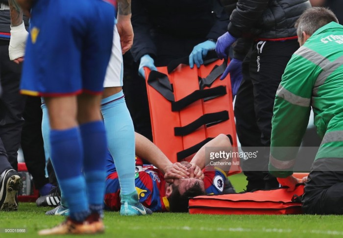 Crystal Palace's Dann and Puncheon out for season after injuries in Man City draw