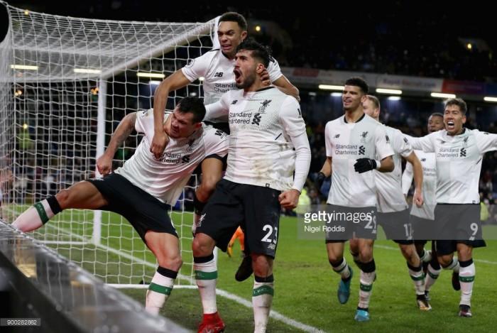 Burnley 1-2 Liverpool: Klavan's late effort snatches all three points against boisterous Burnley