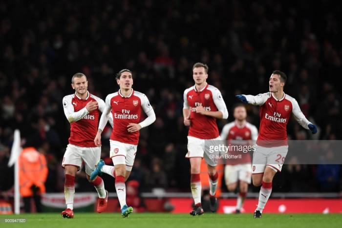 Arsenal 2-2 Chelsea: Bellerín belter levels Emirates classic at the death