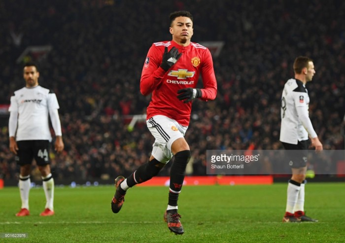 Manchester United 2-0 Derby County: Late Lingard screamer helps send bullish United through