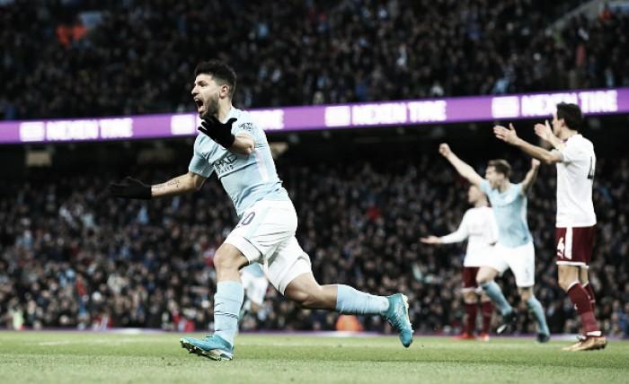 Agüero faz dois, City goleia Burnley e avança na Copa da Inglaterra