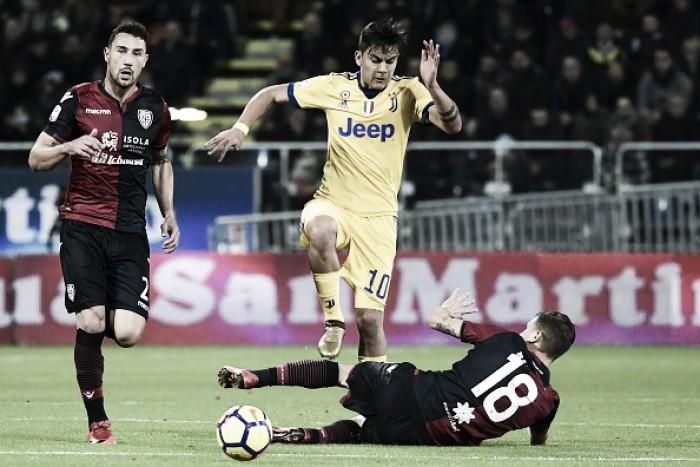 Dybala se lesiona, Juventus supera Cagliari e continua na cola do Napoli