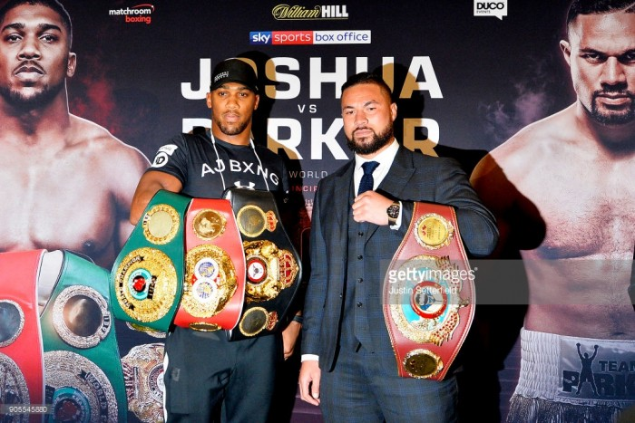 Anthony Joshua sends warning to Joseph Parker insisting it will take more than a human to knock him out