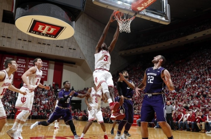 Indiana Hoosiers Control Northwestern Wildcats From Opening Tip To Final Buzzer