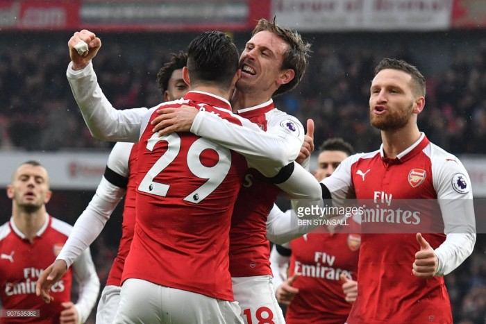 Arsenal 4-1 Crystal Palace: Early madness helps Gunners win easy