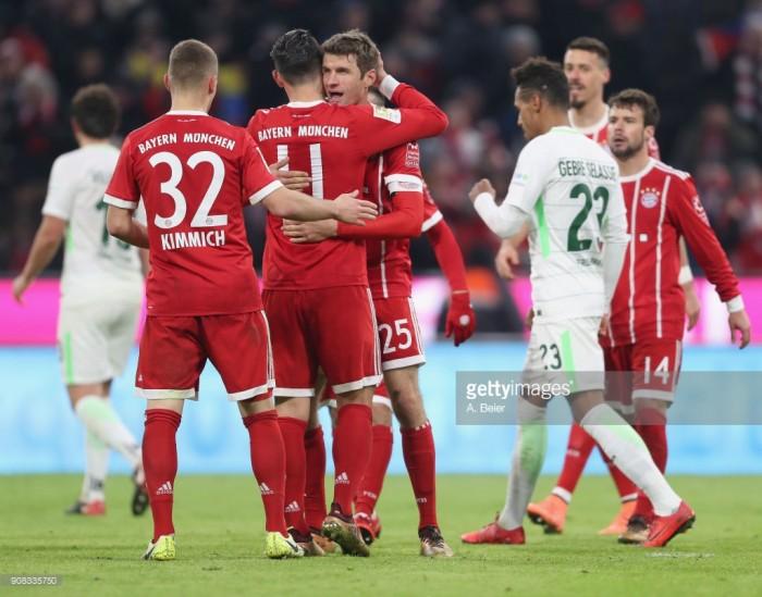 Bayern Munich 4-2 SV Werder Bremen: Müller and Lewandowski step up when needed to lead Bayern to another win