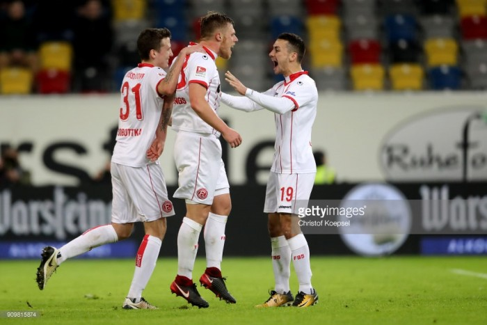 Fortuna Düsseldorf 2-1 Erzgebrige Aue: Flingeraner go three points clear after Hennings penalty