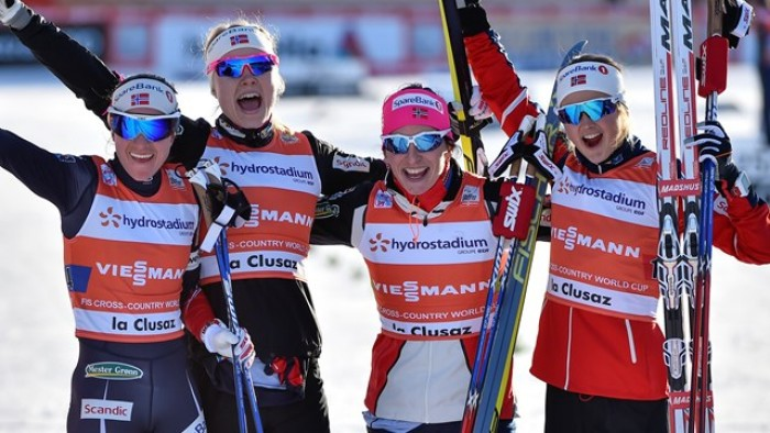 Sci di Fondo: staffette norvegesi a La Clusaz