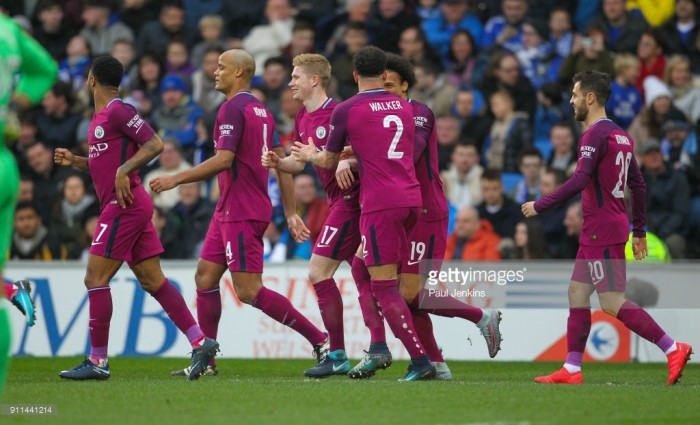 Cardiff City 0-2 Manchester City: Citizens cruise into last 16