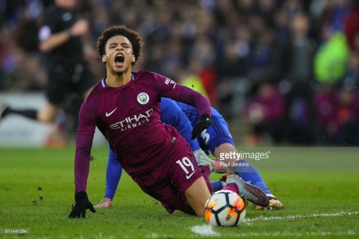 Pep Guardiola confirms Leroy Sané will be out for six to seven weeks ahead of Baggies battle