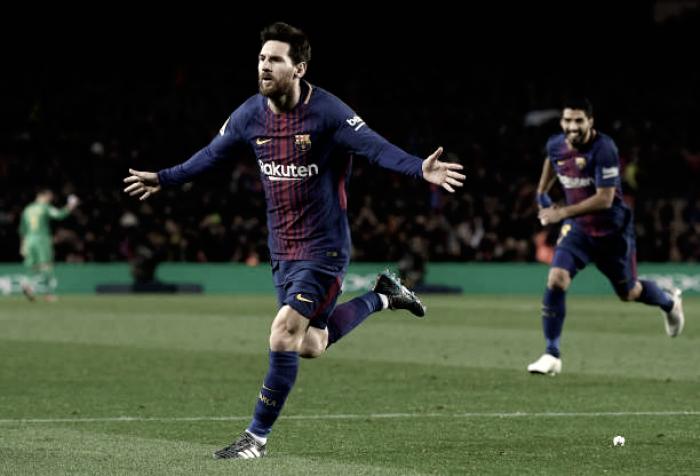Messi decide, Barcelona vence Alavés de virada e se mantém invicto na Liga