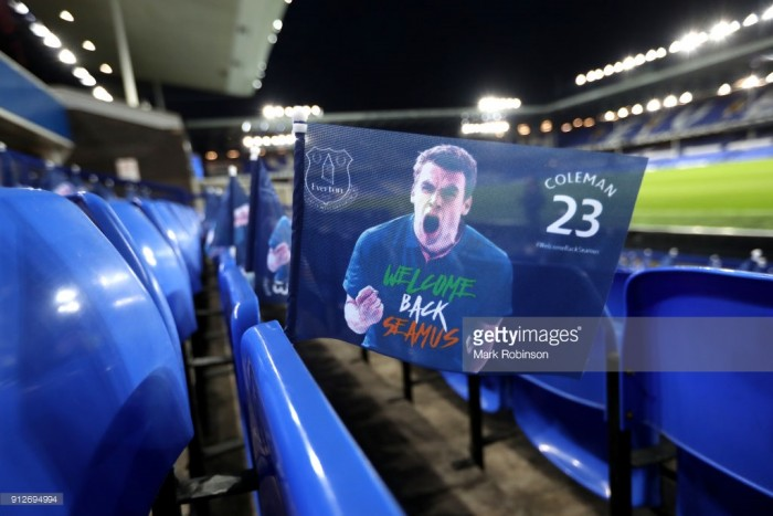 Everton vs Leicester City confirmed team news: Coleman makes first appearance in 10 months for Blues