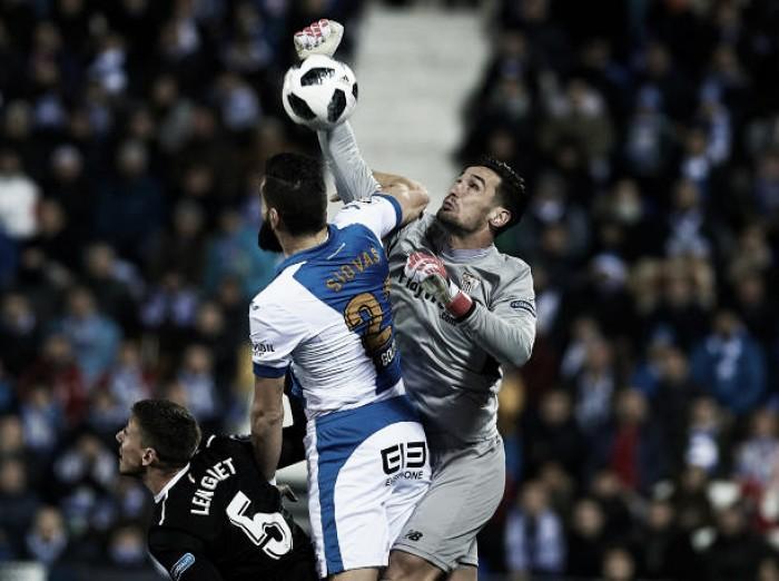 Leganés e Sevilla empatam sem gols na capital e vaga na final da Copa do Rei fica em aberto