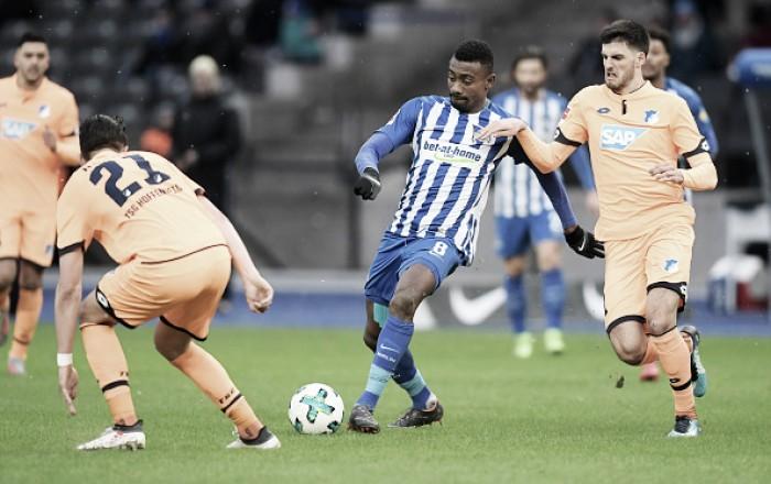Hertha Berlin e Hoffenheim empatam e seguem sem vitórias em 2018