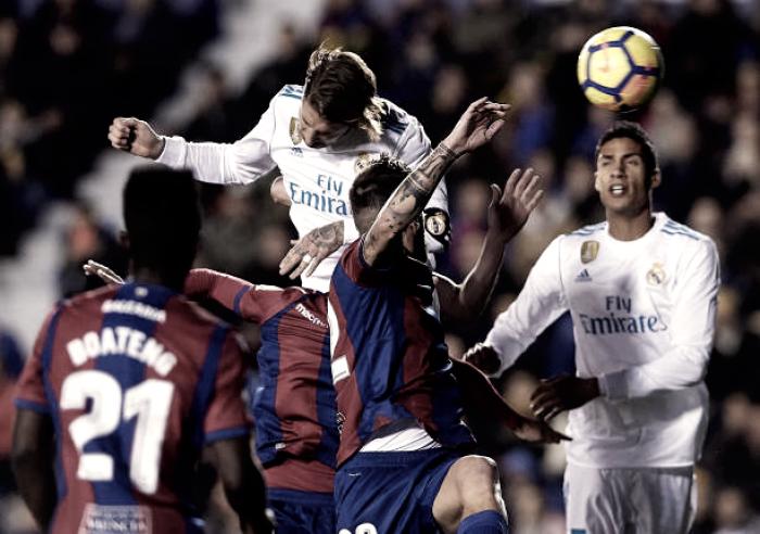 Real Madrid fica na frente do placar duas vezes, mas cede empate para Levante no fim