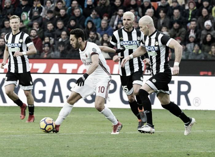 Suso faz 'pintura', mas Milan sofre com um a menos e cede empate à Udinese