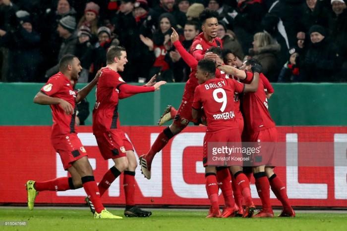 Bayer Leverkusen 4-2 Werder Bremen (AET):Karim Bellarabi helps to settle epic DFB-Pokal tie