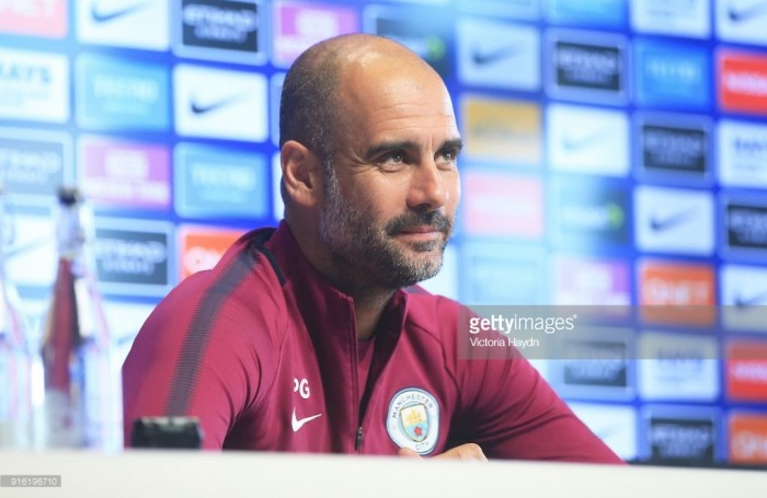 Guardiola insists that Manchester City are thinking game by game ahead of Leicester clash