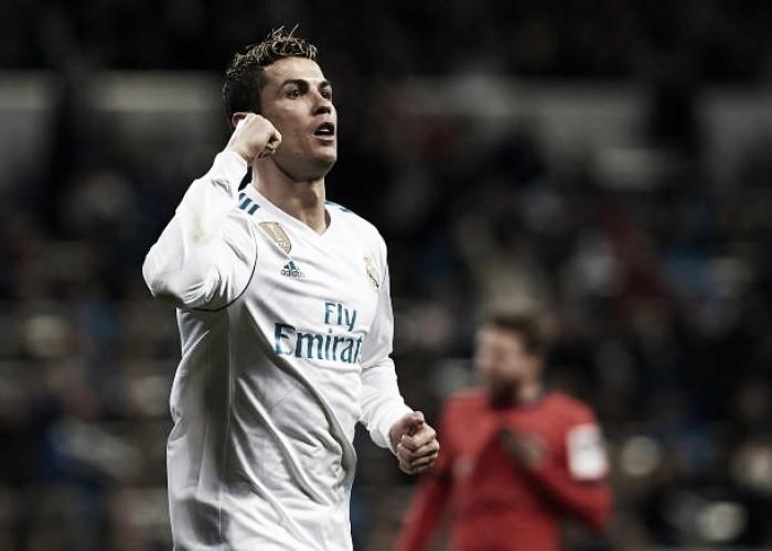 Com três gols de Cristiano Ronaldo, Real Madrid goleia Real Sociedad e manda recado para o PSG