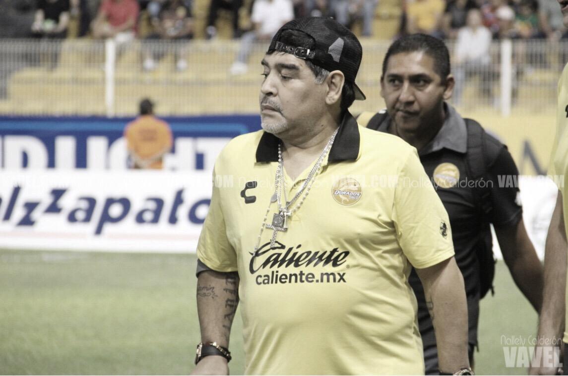 """Diego Maradona: """"Mis muchachos dieron todo en la cancha"""""""