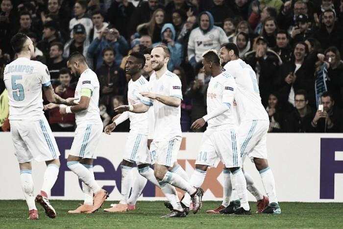 Germain decide, Marseille vence Braga e encaminha classificação às oitavas de final da UEL